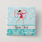 Rythmic Gymnastics Hoops 15 Cm Square Badge