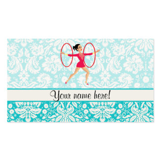 Rythmic Gymnastics Hoops Business Card Template