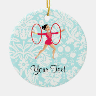 Rythmic Gymnastics Hoops Round Ceramic Decoration