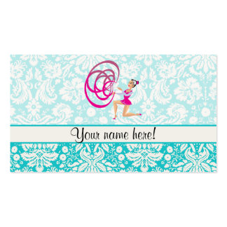 Rythmic Gymnastics Ribbon Double-Sided Standard Business Cards (Pack Of 100)