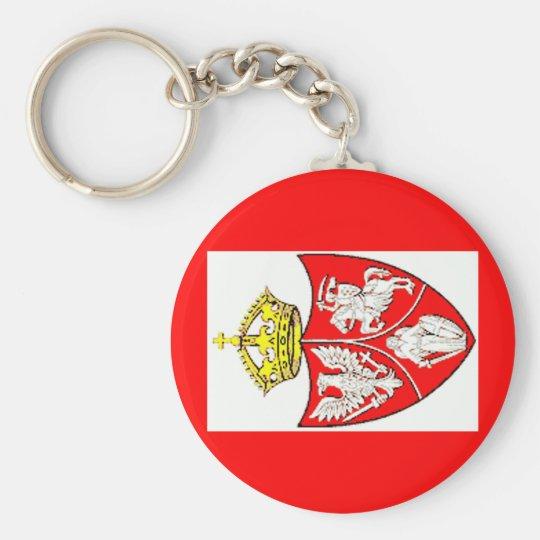 Rzeczpospolita_Obojga_Narodow Basic Round Button Key Ring