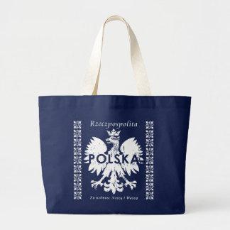 Rzeczpospolita Polska Poland Eagle Symbol Large Tote Bag