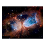 S106 Star Forming Region - NASA Hubble Space Photo Poster