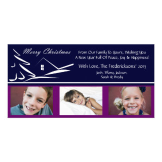 S1 Simple Beauty-Plumb Xmas Photo Cards