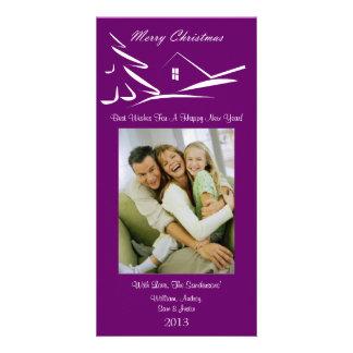 S3 Simple Beauty-Plumb Xmas Photo Card