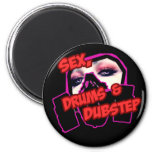 S3X DRUMS and DUBSTEP 6 Cm Round Magnet
