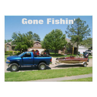 S5001540, Gone Fishin' Poster