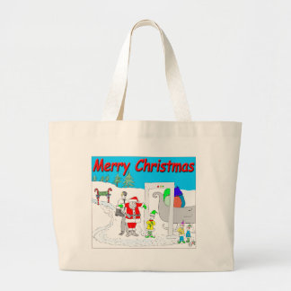 s5 Santa and TSA cartoon - Merry Christmas Cartoon Bags