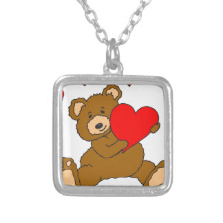 s7 Valentine Heart Bear Personalized Necklace