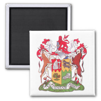 S.A. Coat of Arms Square Magnet