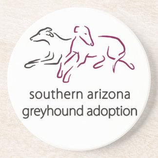 S A Greyhound Adoption sandstone coaster