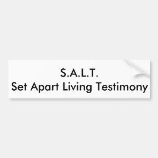 S.A.L.T. Bumper Sticker