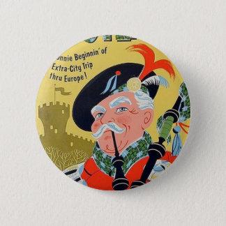S.A.S. scotland vintage poster button