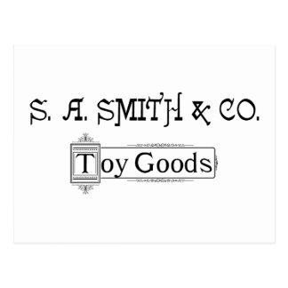 S A. Smith & Co. Toy Goods 1888 Logo Postcard
