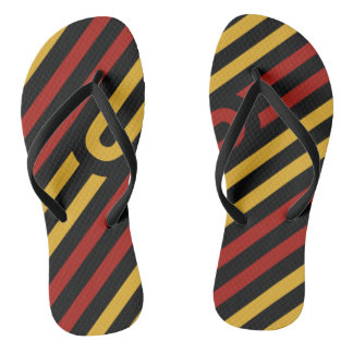 S Abstract Geometry Design Flip Flops