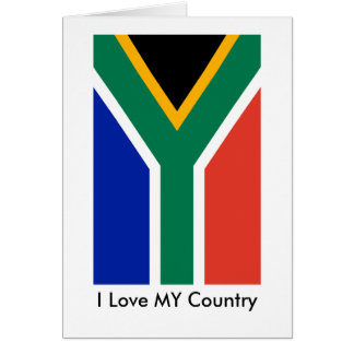S Africa Flag The MUSEUM Zazzle I Love MY Country Greeting Card