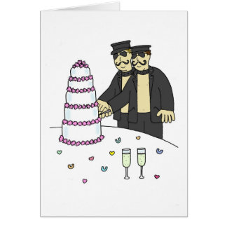 S and M grooms civil partnership. Greeting Card