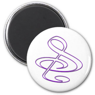 """S"", ""&"", And/Or Treble Clef Musical Note 6 Cm Round Magnet"