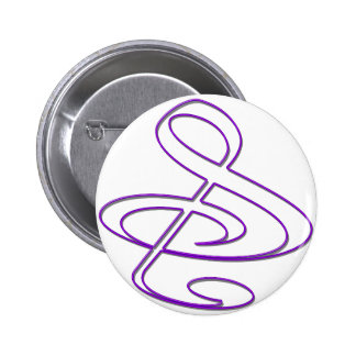S And Or Treble Clef Musical Note Button