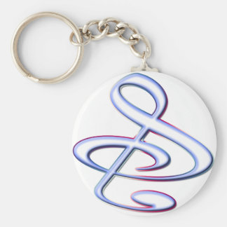 S And Or Treble Clef Musical Note Keychains