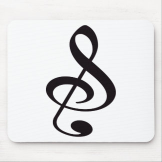 S And Or Treble Clef Musical Note Mouse Mat