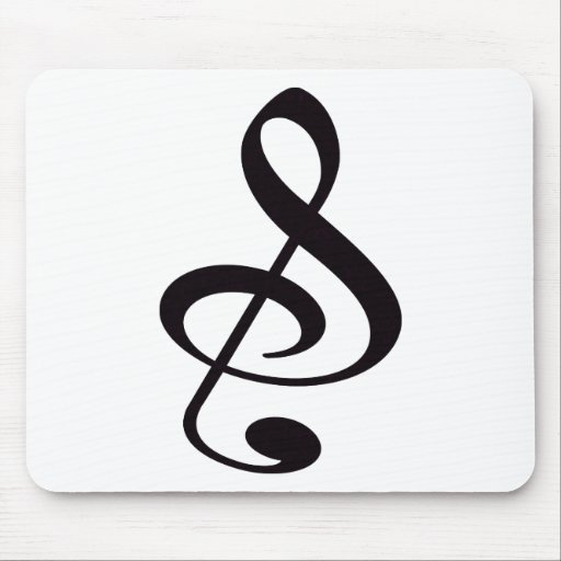 """""""S"""", """"&"""", And/Or Treble Clef Musical Note Mouse Mat"""