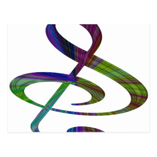 S And Or Treble Clef Musical Note Post Cards