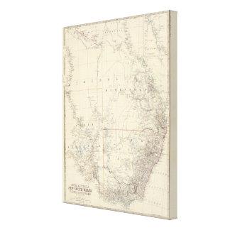 S Australia, NSW, Victoria, Queensland Canvas Print
