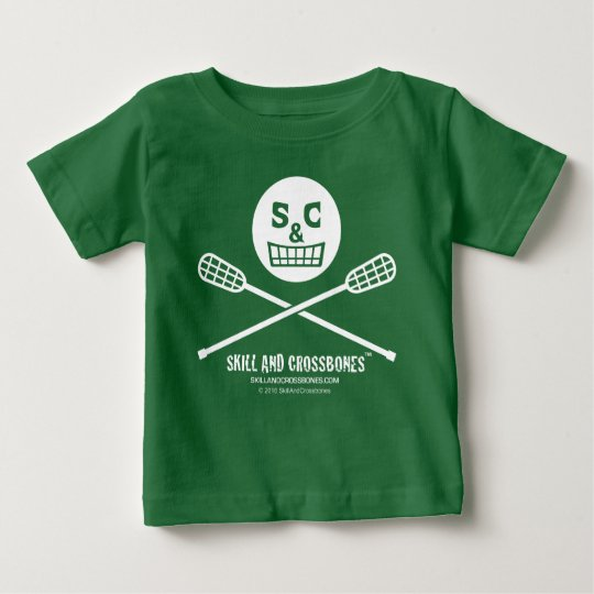 S&C Lacrosse Baby on Dark Apparel Baby T-Shirt
