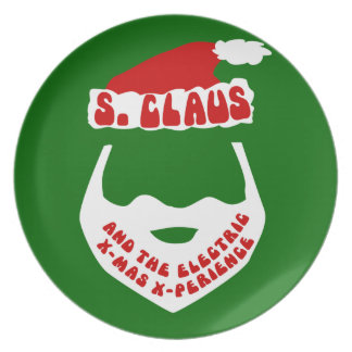 S. Claus and the Electric X-Mas X-Perience Party Plate