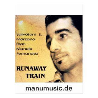 S E Marzano feat M Fernandez - Runaway Train Postcard