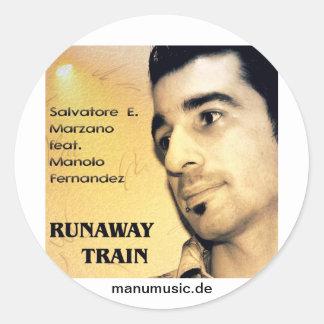 S E Marzano feat M Fernandez - Runaway Train Round Stickers