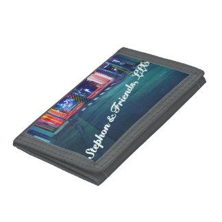 S&F 1 Gray TriFold Nylon Wallet
