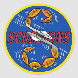 S Flight Scorpions Classic Round Sticker