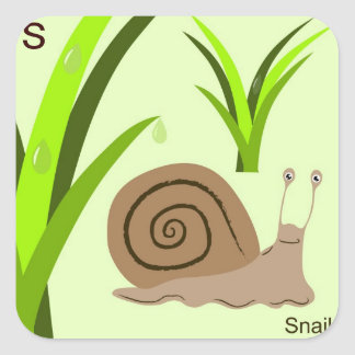 S for snail Sticker