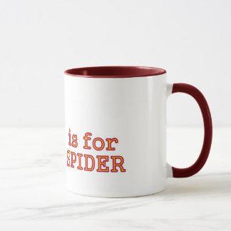 S for spider mug