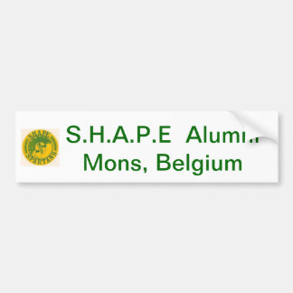 S.H.A.P.E Alumni bumper sticker Bumper Stickers