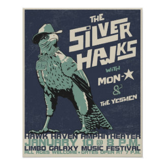 S-hawks concert poster - distressed