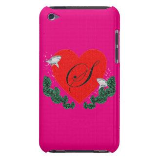 S in a heart iPod Case-Mate case
