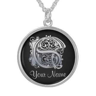 S Initial with Your Name Necklace Custom Jewelry