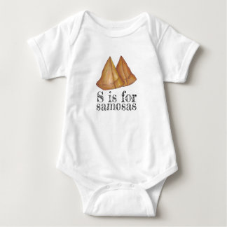 S is for Samosas Indian Food Samosa Pastry Baby Bodysuit