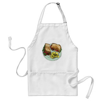 S is for Sandwich Adult Apron