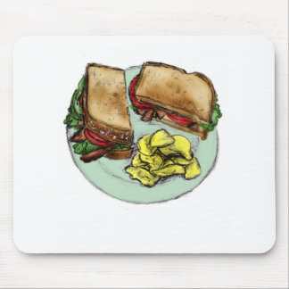 S is for Sandwich Mouse Pads