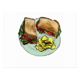 S is for Sandwich Postcard