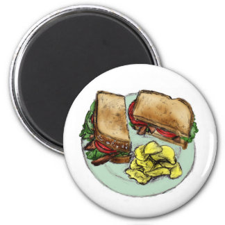 S is for Sandwich Refrigerator Magnets