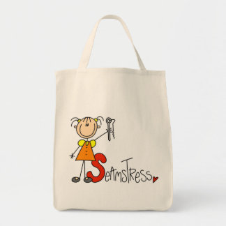 S is for Seamstress Canvas Bag