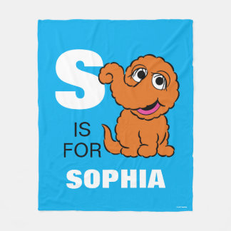 S is for Snuffleupagus | Add Your Name Fleece Blanket