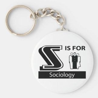 S Is For Sociology Basic Round Button Key Ring