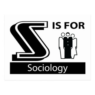 S Is For Sociology Postcard