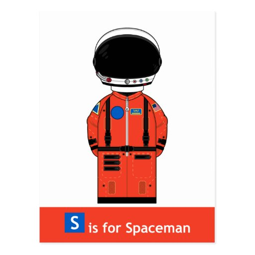 S is for Spaceman Postcard